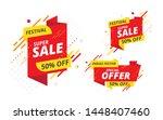 festive big sale  offer banner  ... | Shutterstock .eps vector #1448407460