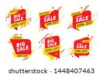 big sale  offer banner  sticker ... | Shutterstock .eps vector #1448407463