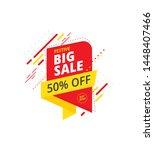 big sale  offer banner  sticker ... | Shutterstock .eps vector #1448407466