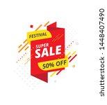 festival big sale  offer banner ... | Shutterstock .eps vector #1448407490
