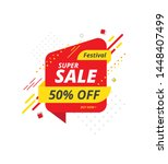 festival big sale banner ... | Shutterstock .eps vector #1448407499