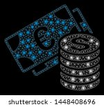 bright mesh euro and dollar...   Shutterstock .eps vector #1448408696