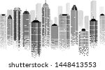 cityscape panorama with skyline ... | Shutterstock .eps vector #1448413553