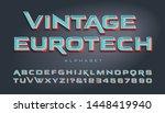 vector font. wide vintage... | Shutterstock .eps vector #1448419940