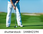 playing golf. golf club and... | Shutterstock . vector #144842194