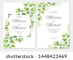 wedding invitation with green... | Shutterstock .eps vector #1448422469