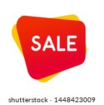 beautiful sale label red color... | Shutterstock .eps vector #1448423009