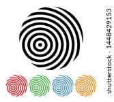 concentric circle icon design...   Shutterstock .eps vector #1448429153