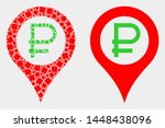 dotted and flat rouble map... | Shutterstock .eps vector #1448438096