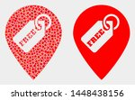 dotted and flat free tag marker ... | Shutterstock .eps vector #1448438156