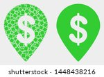 pixel and flat dollar map... | Shutterstock .eps vector #1448438216
