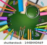 school background. green... | Shutterstock .eps vector #1448440469