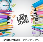 welcome back to school concept... | Shutterstock .eps vector #1448440493