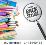 welcome back to school concept... | Shutterstock .eps vector #1448440496
