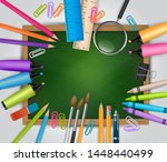 school background with lots of... | Shutterstock .eps vector #1448440499