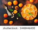 summer apricot pie homemade... | Shutterstock . vector #1448446430