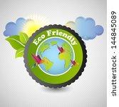 eco emblem  | Shutterstock .eps vector #144845089