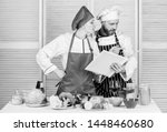 culinary family concept. couple ... | Shutterstock . vector #1448460680