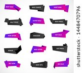 vector stickers  price tag ... | Shutterstock .eps vector #1448470796