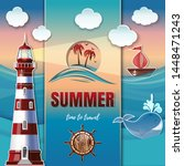 summer time to travel. summer... | Shutterstock .eps vector #1448471243