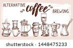 set of hand drawn alternative... | Shutterstock .eps vector #1448475233