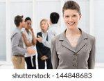 portrait of young businesswoman ... | Shutterstock . vector #144848683