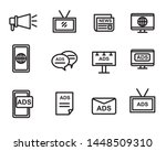 set of advertisement and... | Shutterstock .eps vector #1448509310