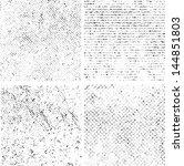 grunge set stripe. vector... | Shutterstock .eps vector #144851803