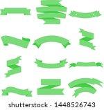 green ribbon set inisolated...   Shutterstock .eps vector #1448526743