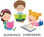 vector illustration of children ... | Shutterstock .eps vector #1448528300