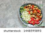 carb free lunch keto diet....   Shutterstock . vector #1448595893