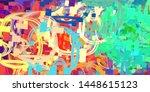 artistic sketch draw backdrop... | Shutterstock . vector #1448615123