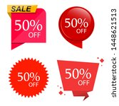 special sale discount sticker... | Shutterstock .eps vector #1448621513