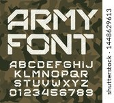 army alphabet typeface.... | Shutterstock .eps vector #1448629613