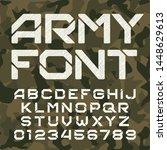 army alphabet typeface....   Shutterstock .eps vector #1448629613