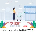 advertising flyer top secret... | Shutterstock .eps vector #1448667596