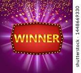 winner congratulations vintage...   Shutterstock .eps vector #1448669330