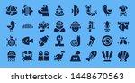 wildlife icon set. 32 filled... | Shutterstock .eps vector #1448670563