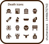 death icon set. 16 filled death ... | Shutterstock .eps vector #1448670743
