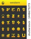 western icon set. 26 filled... | Shutterstock .eps vector #1448675273