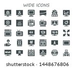 wide icon set. 30 filled wide... | Shutterstock .eps vector #1448676806