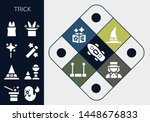 trick icon set. 13 filled trick ... | Shutterstock .eps vector #1448676833