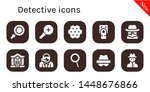 detective icon set. 10 filled... | Shutterstock .eps vector #1448676866
