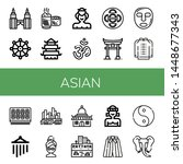 set of asian icons such as twin ... | Shutterstock .eps vector #1448677343