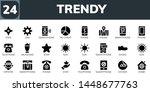 trendy icon set. 24 filled... | Shutterstock .eps vector #1448677763