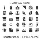 hanging icon set. 30 filled...   Shutterstock .eps vector #1448678693