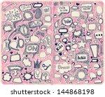 hand drawn speech bubbles... | Shutterstock .eps vector #144868198