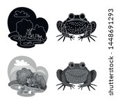 vector design of wildlife and... | Shutterstock .eps vector #1448691293