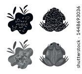 vector illustration of wildlife ... | Shutterstock .eps vector #1448693036
