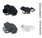 vector illustration of wildlife ... | Shutterstock .eps vector #1448693333